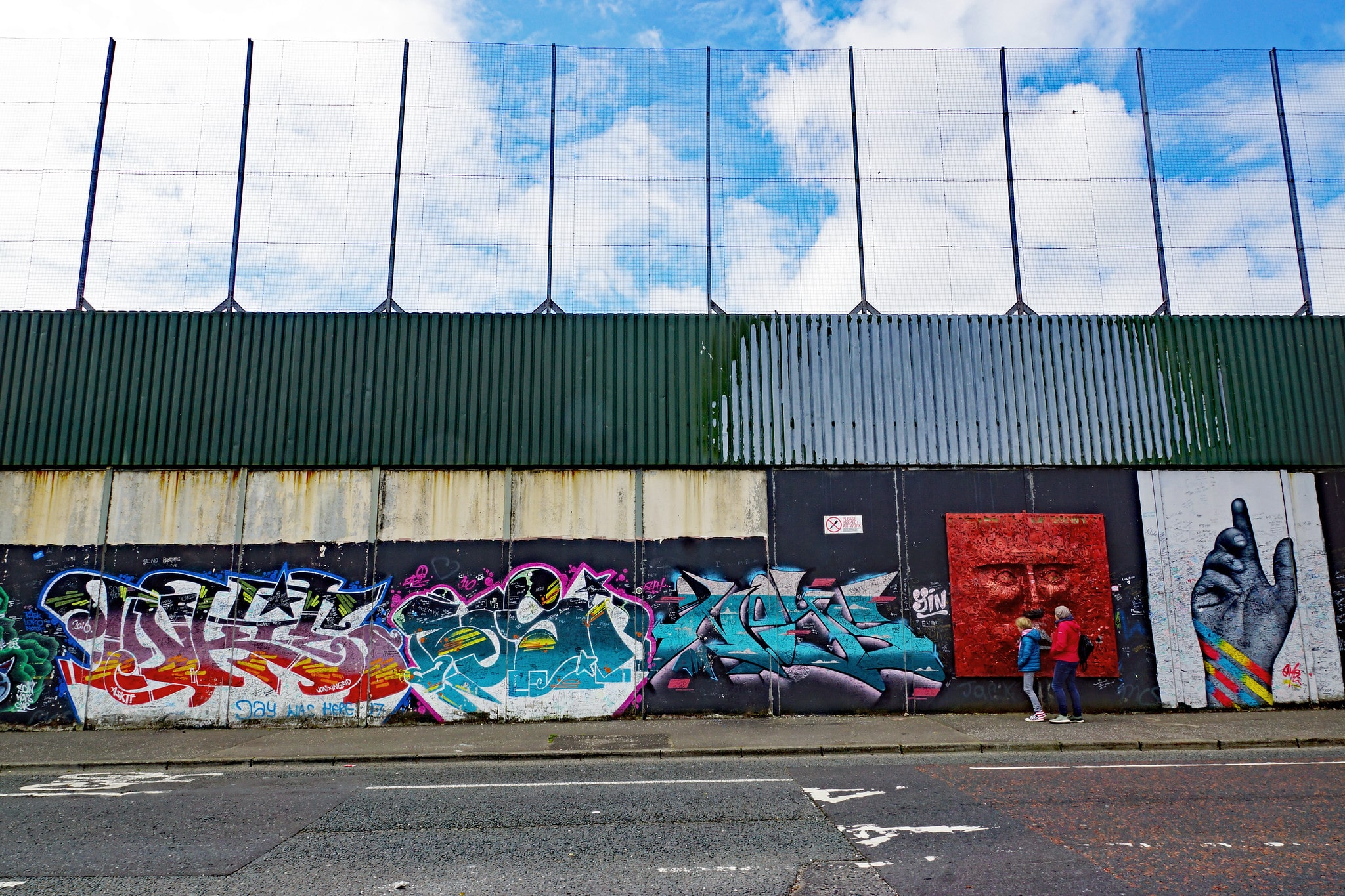 Seeing the iconic peace lines is a cool thing to do in Belfast Ireland