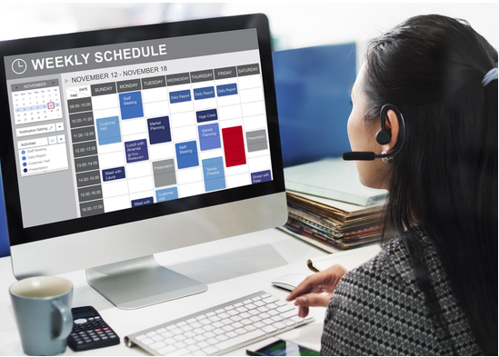 physical therapy scheduling calendar