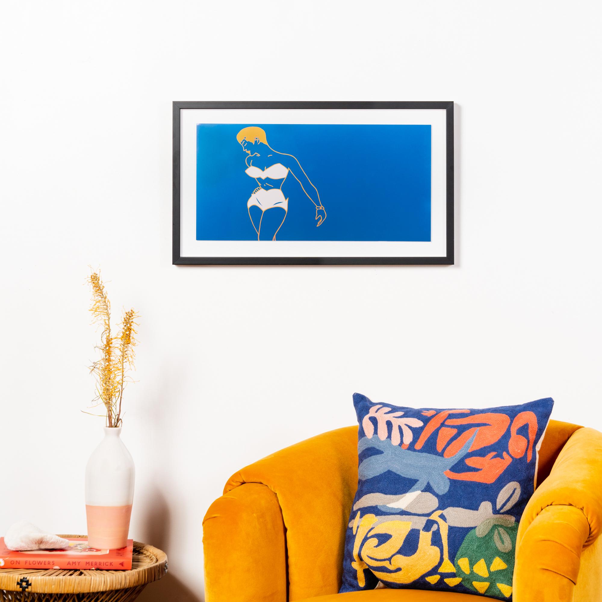 Framebridge Black Artists Print Shop Tracu Murrell Torchy framed print Mercer Slim frame