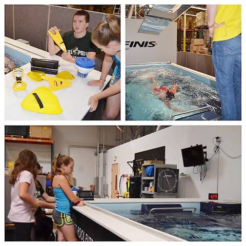 family fun at the Endless Pools Factory Showroom in Aston, Pennsylvania