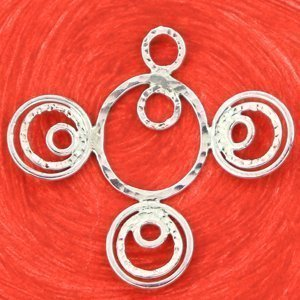 Textured Jump Ring Pendant by Erica Stice