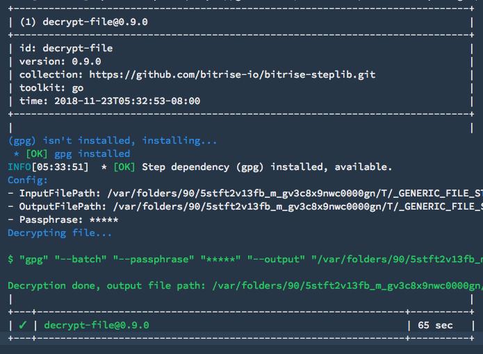New step available: Decrypt file | Bitrise Blog