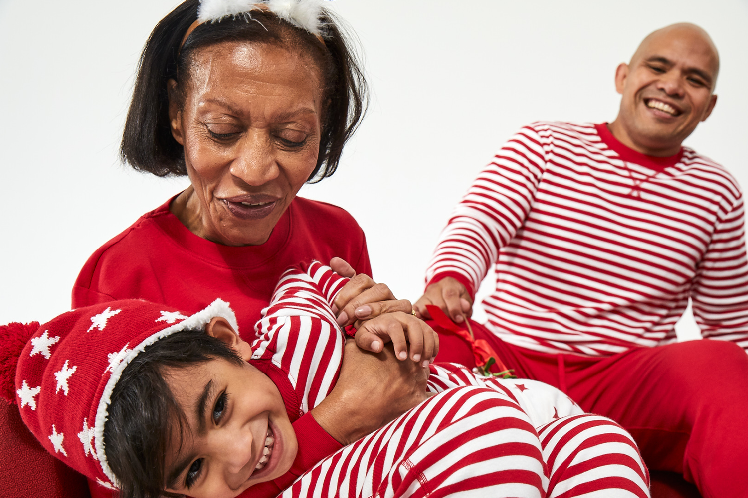 Primary red matching family PJs