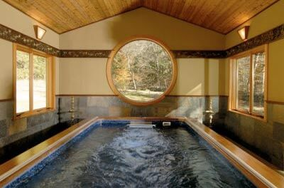 An Original Endless Pool in a renovated barn in New York's Catskill Mountains