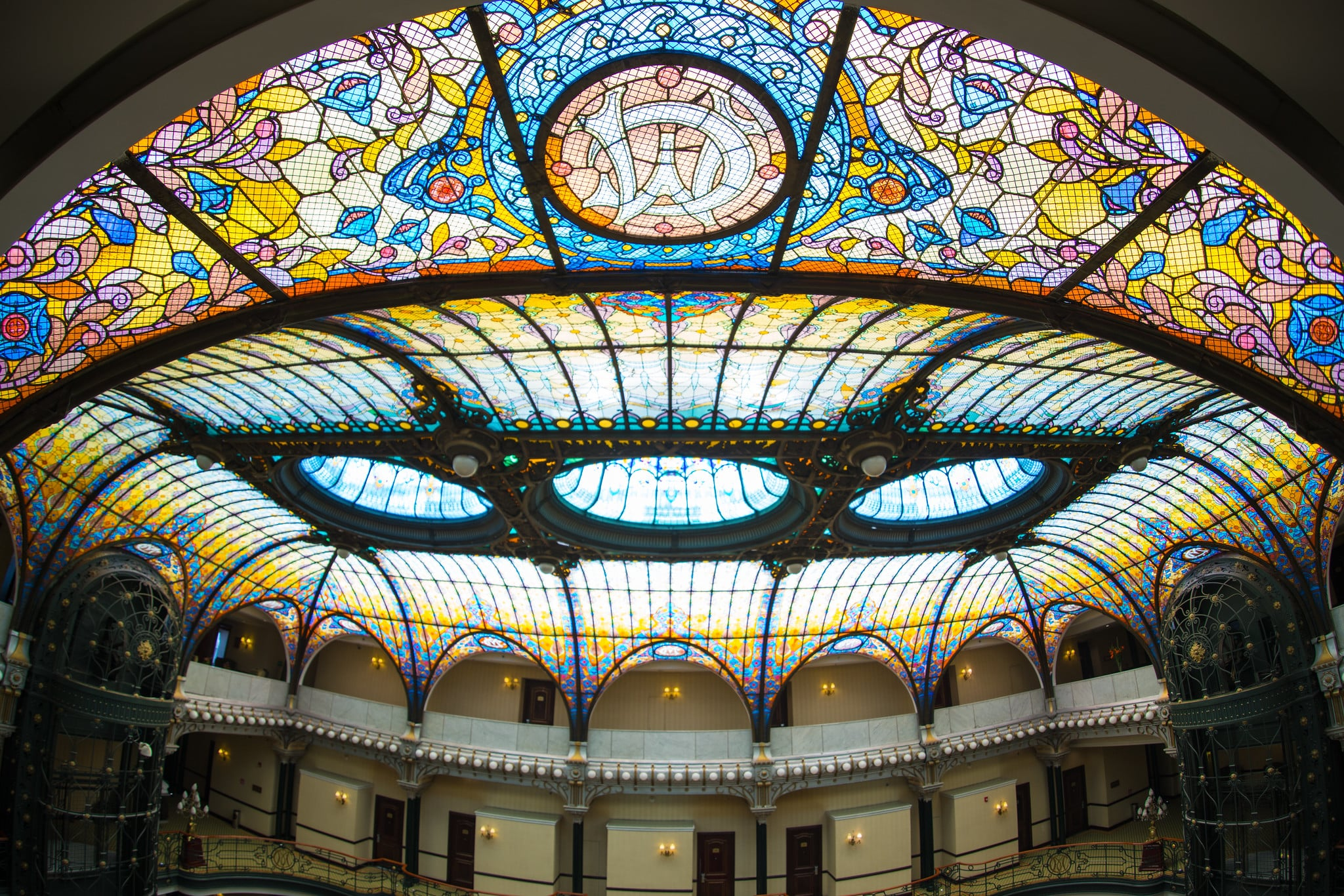 The beautiful Gran Hotel Ciudad de Mexico is in the historic center of Mexico City