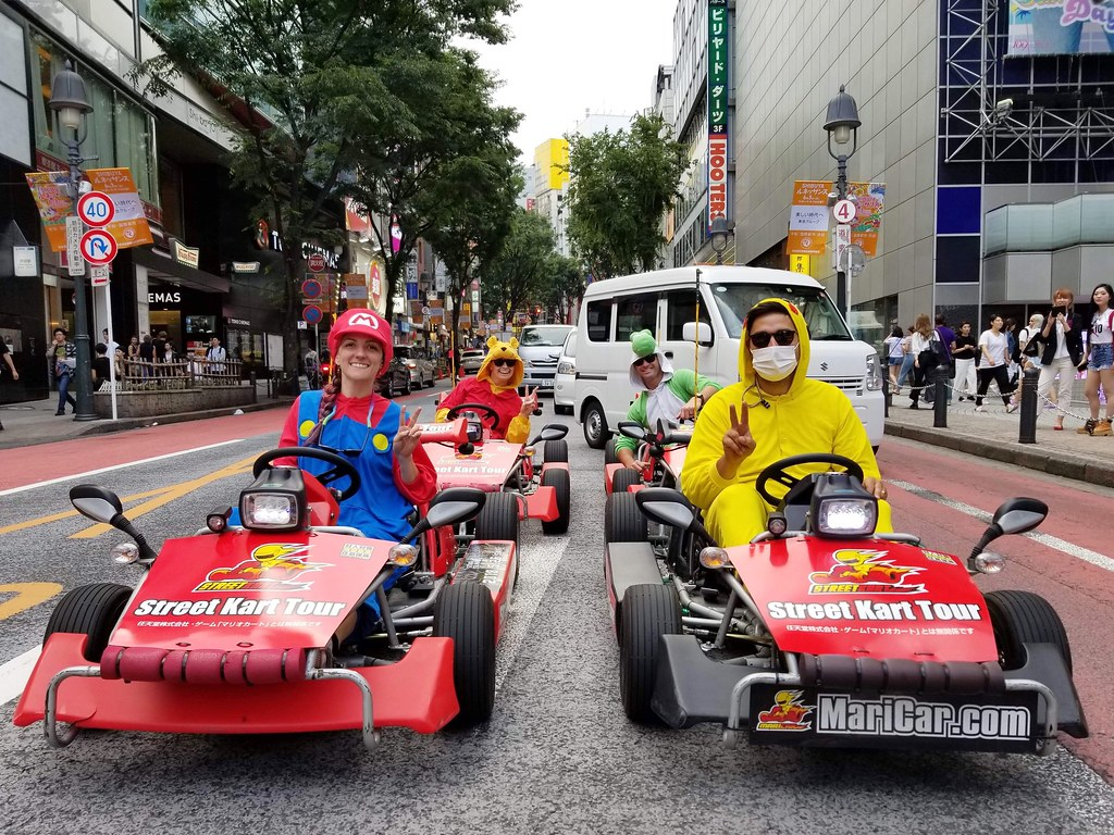 Playing real-life Mario Kart is a fun thing to do in Tokyo