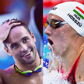 Olympic swimmers Chad Le Clos and Katinka Hosszu