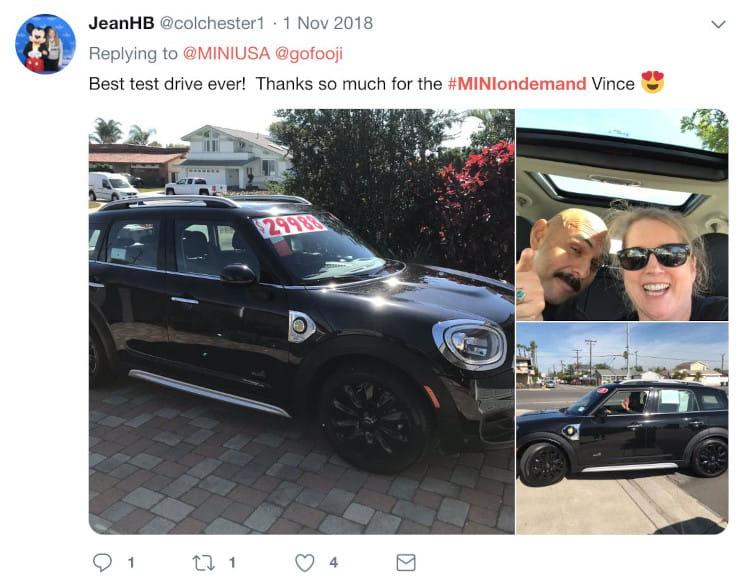 social media test drive tweet