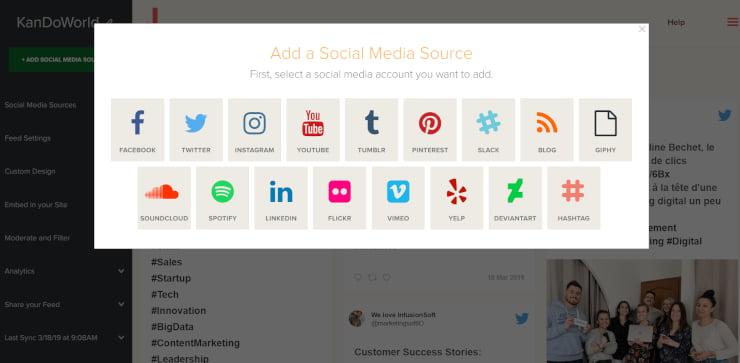 add social source