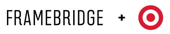 Target and Framebridge Collection Logos