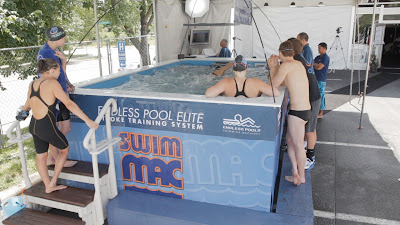 The Elite Endless Pools swimming machine at SwimMAC Carolina