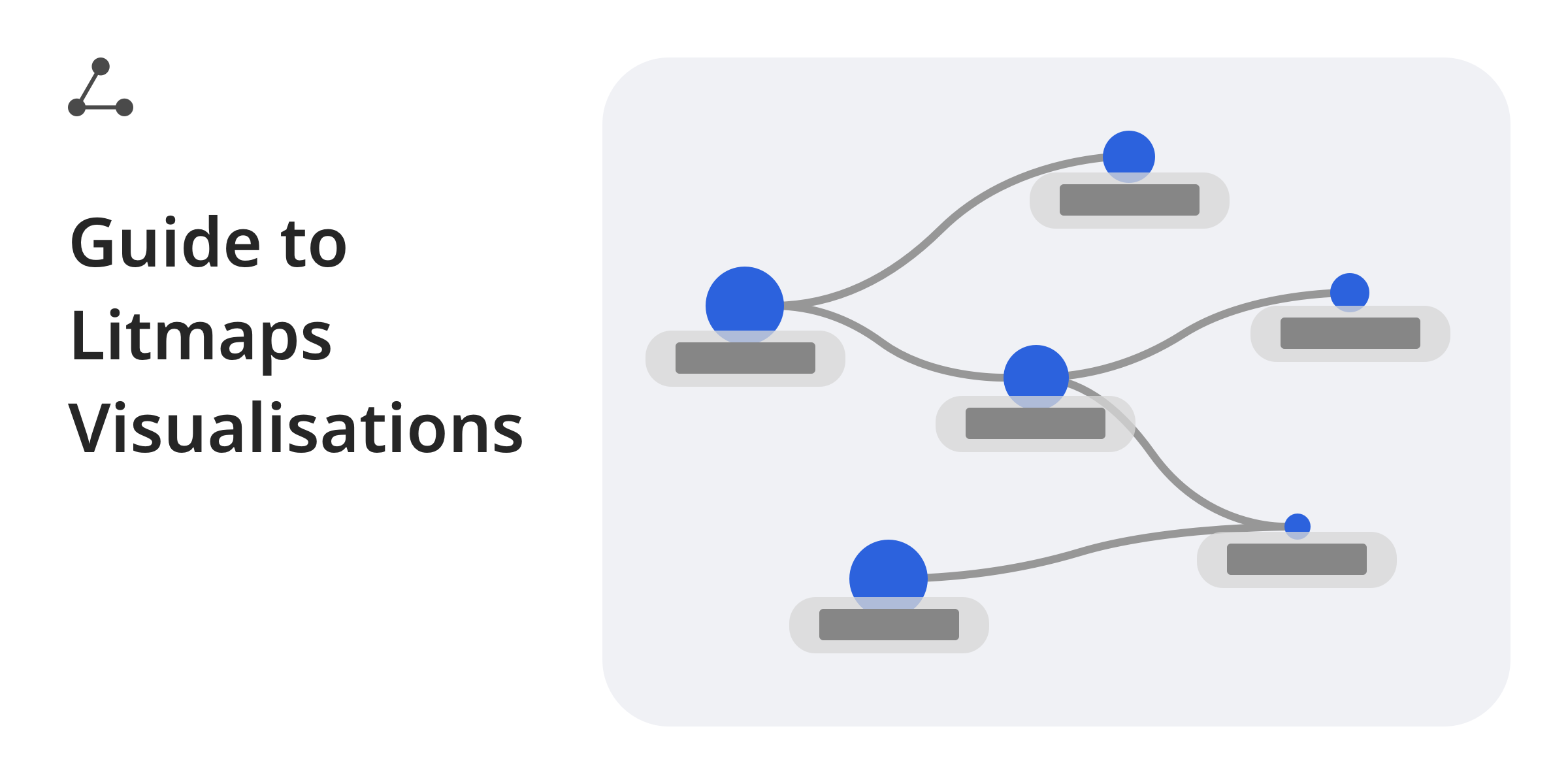 Guide to Litmaps Visualisations title with a stylised graph next to it.