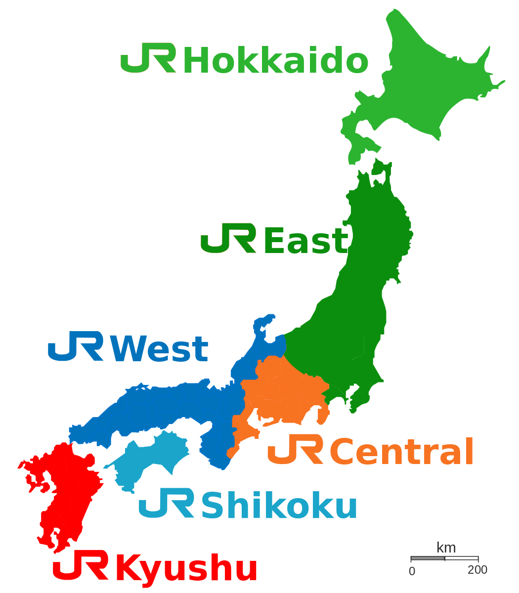 rail pass japan map