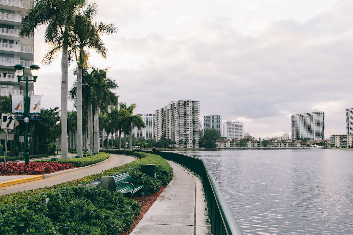 Park on the Miami waterfront