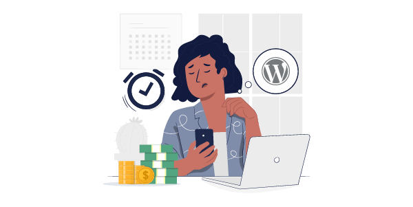 Illustration: WordPress is expensive