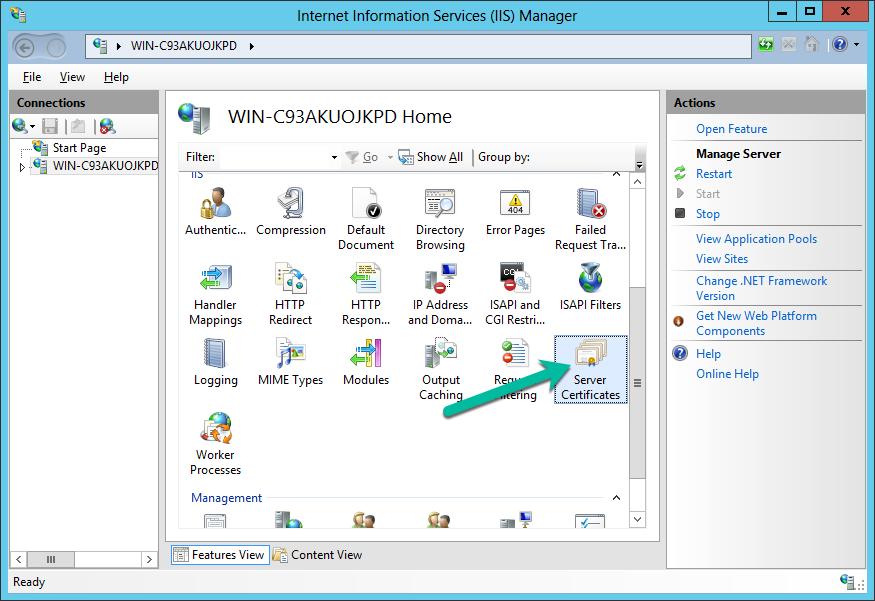 Renew an SSL Certificate IIS 8 & 8 5 Windows Server 2012