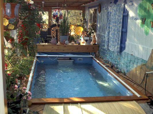 Regina Sellers' indoor Endless Pools swimming machine