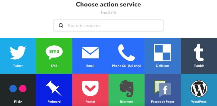 IFTTT Choose a social automation platform