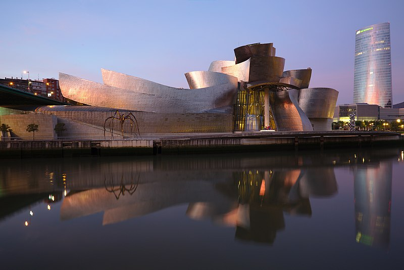 Guggenheim Museum is an impressive place to visit in Spain