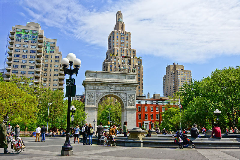 Washington Square Park in Greenwich Village is one of the best places to visit in New York City