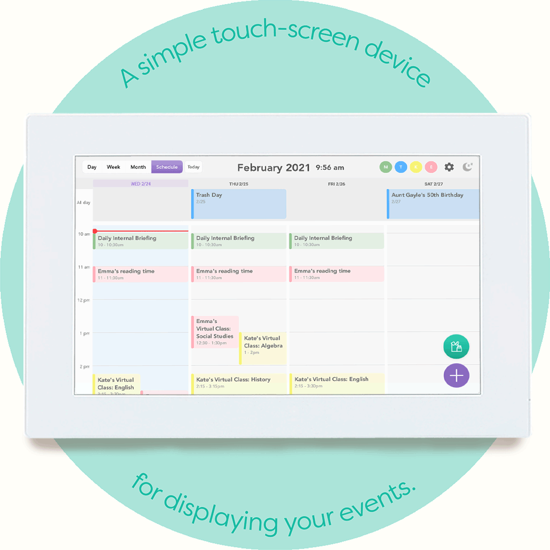 How To Stay Organized with Skylight Calendar in 3 Easy Steps