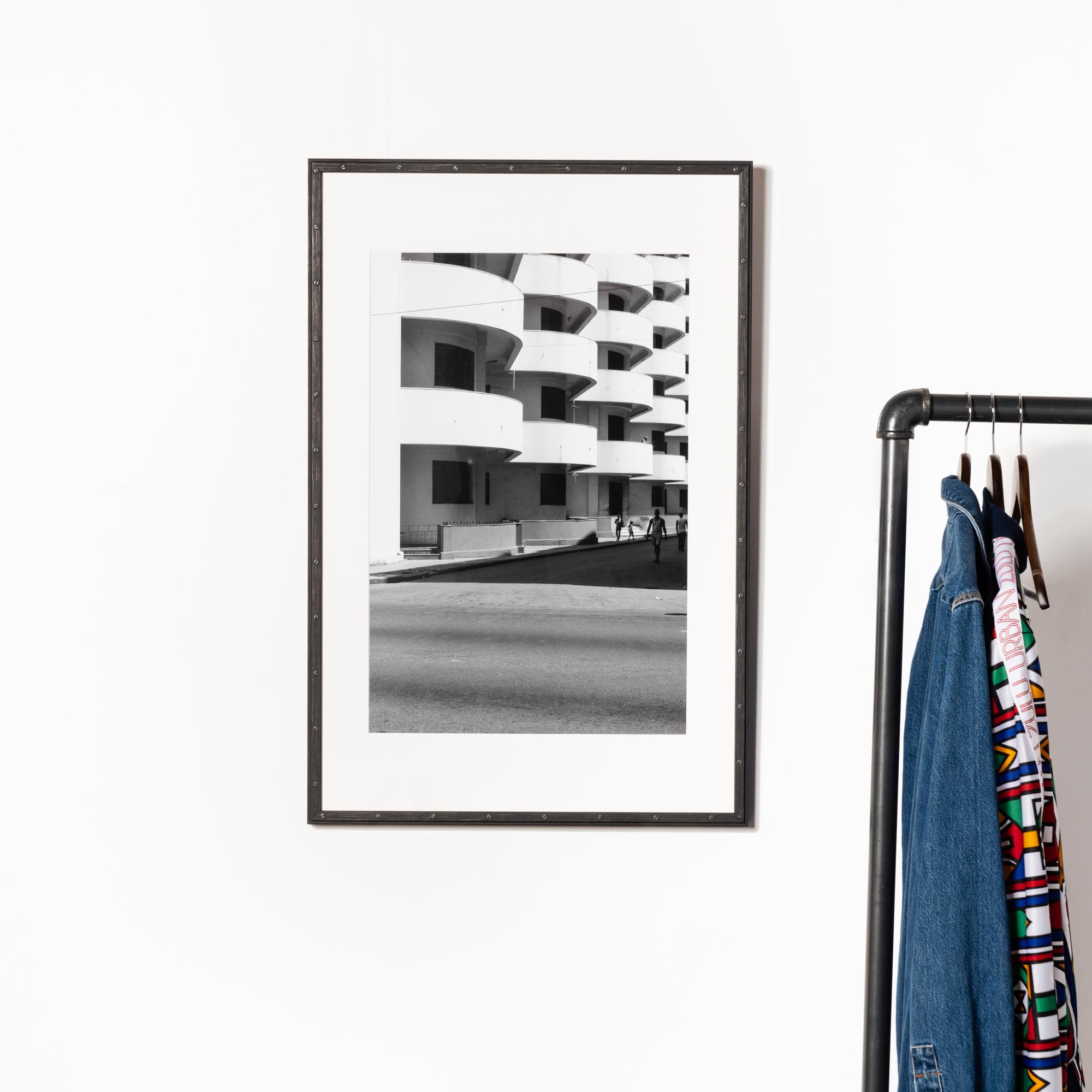 Framebridge Black Artists Print Shop Mhandy Gerard Scalloped Balconies framed print Bolton frame