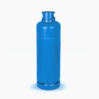 Ilustração de fundo branco com cilindro de gás em azul de 45KG