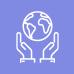 Ícone de duas mãos segurando o globo terrestre