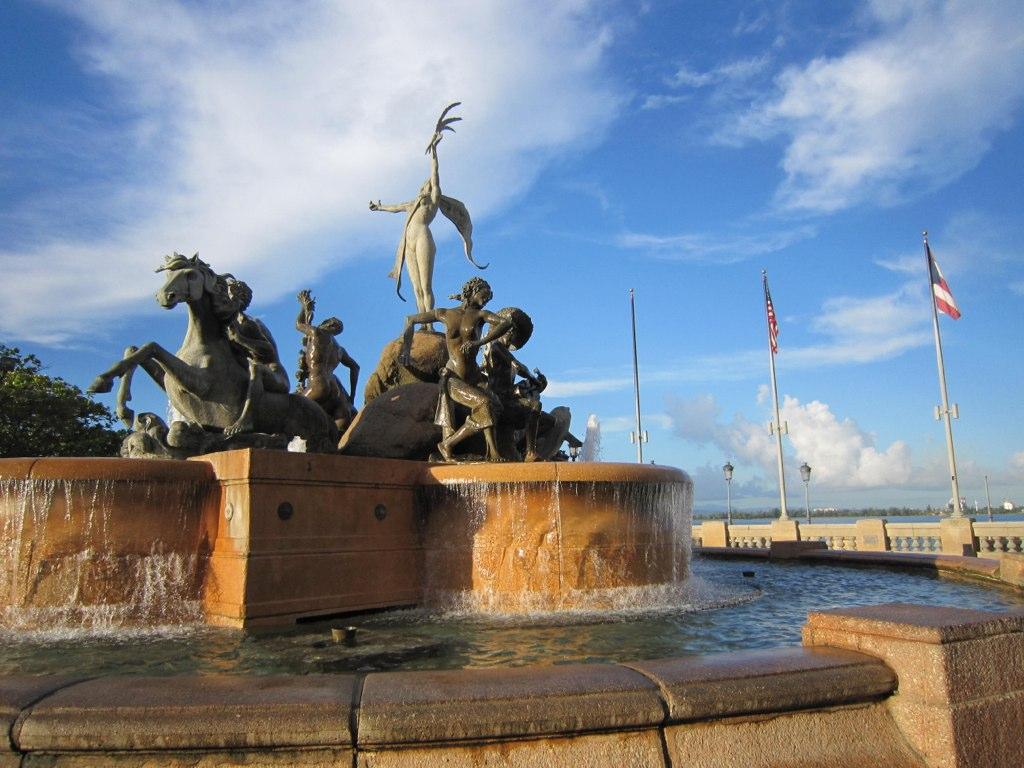 The gorgeous Raices Fountain is a top Puerto Rico landmark