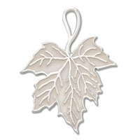 Leaf charm with mirror finish