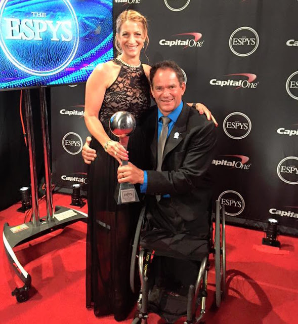 Paralympic triathlete Krige Schabort after winning his ESPY Award