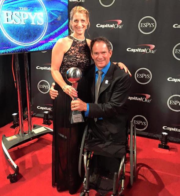 Paralympic triathlete Krige Schabort after winning his ESPY Award