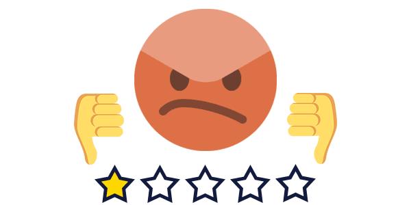 Negative digital customer experience