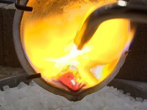 Melting metal for casting