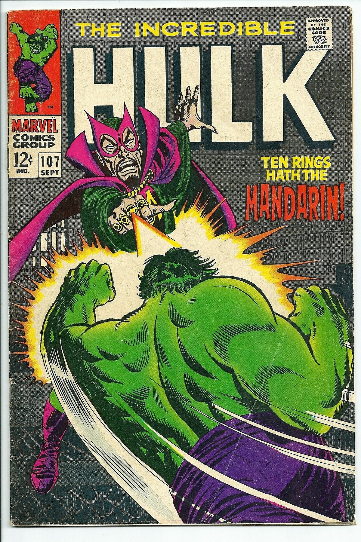 The Hulk comic book cover