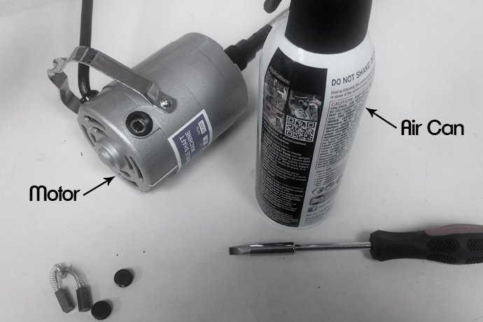 Flex shaft  motor cleaning