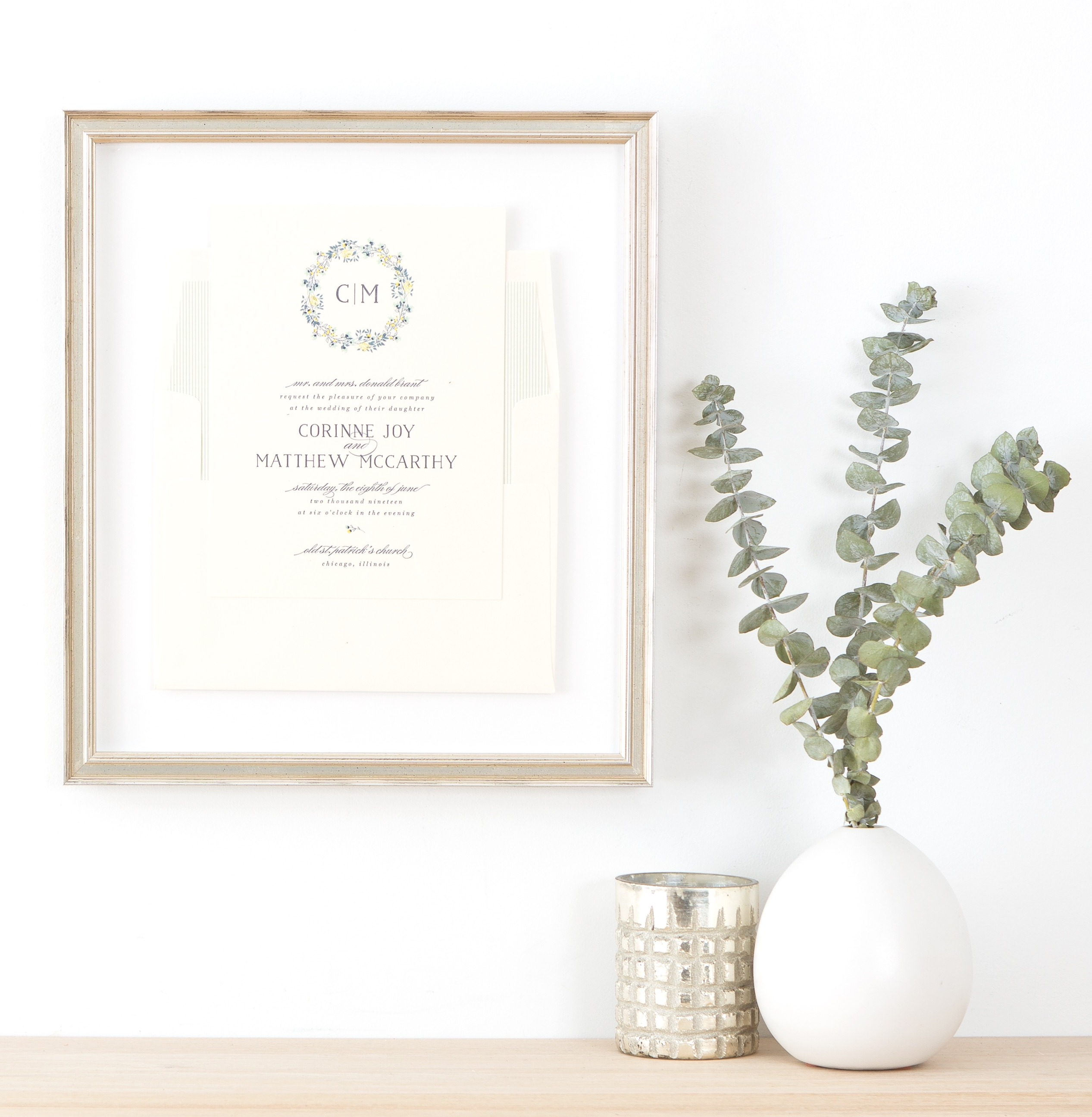 How To Frame a Wedding Invitation