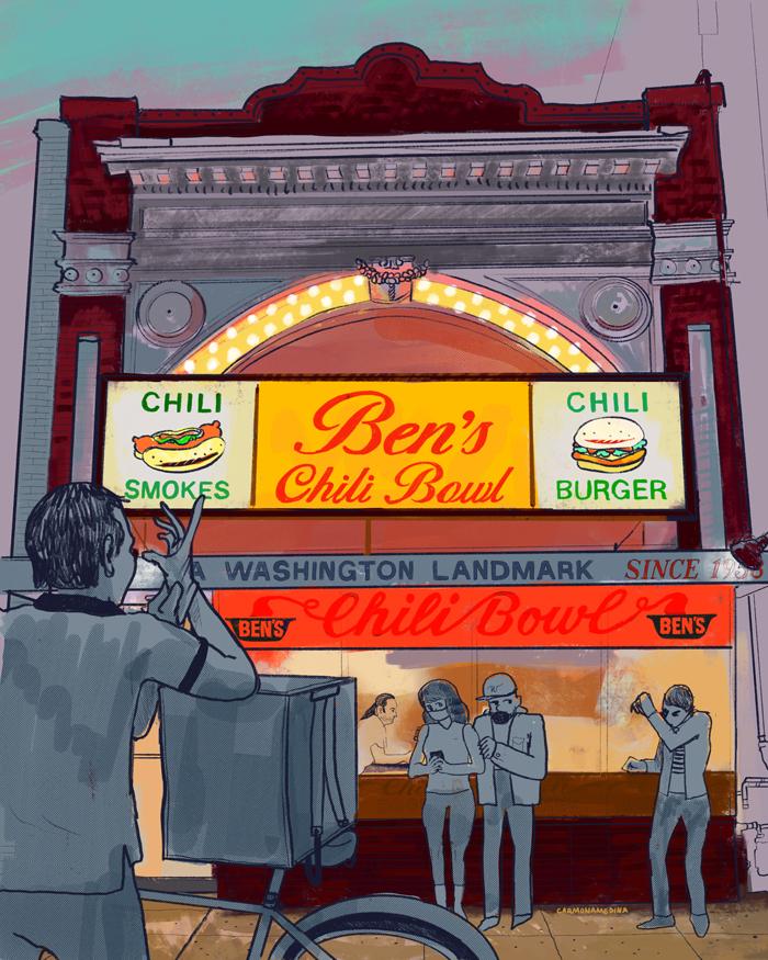 illustration of ben's chili bowl