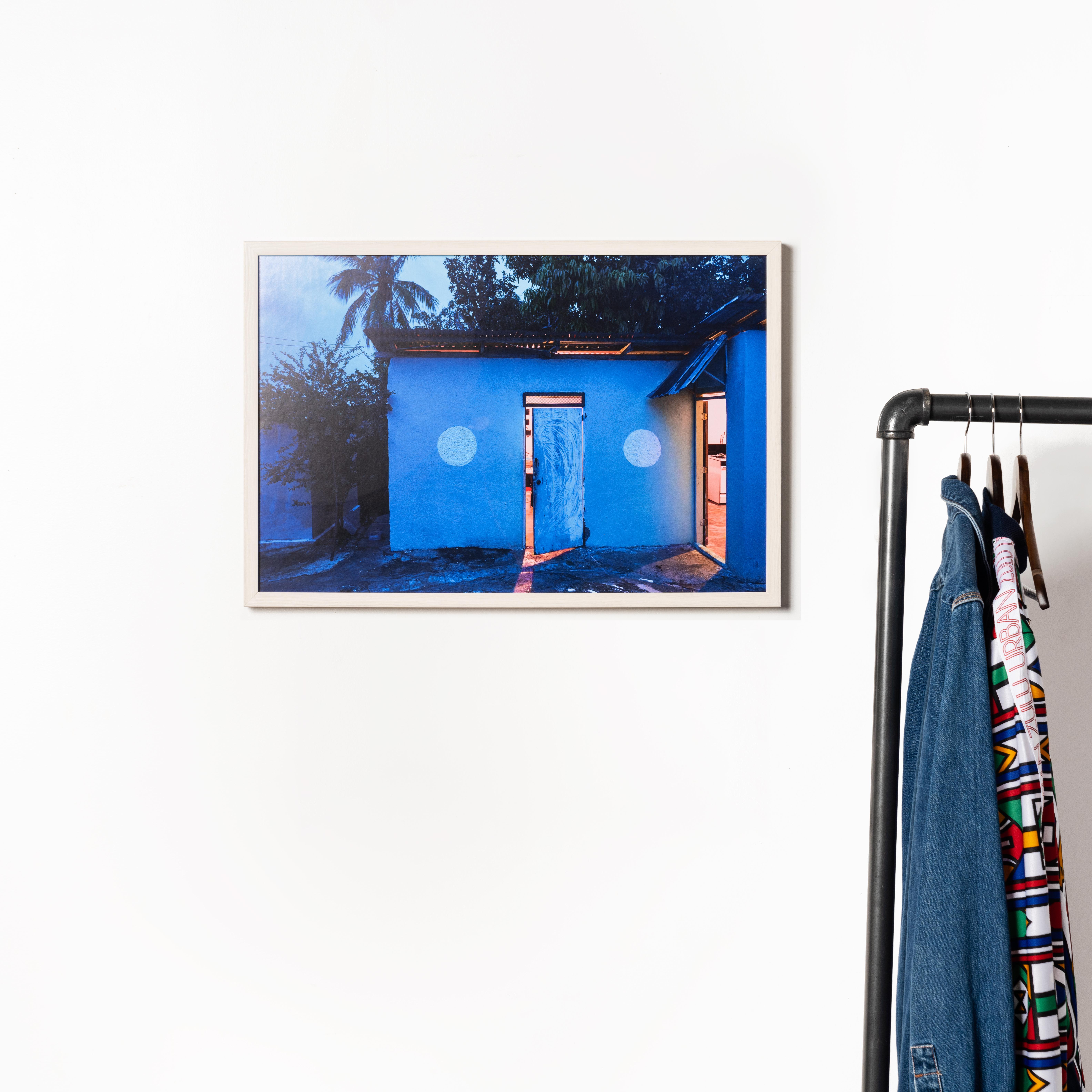 Framebridge Black Artists Print Shop Mhandy Gerard Home's Embrace framed print Monterey frame