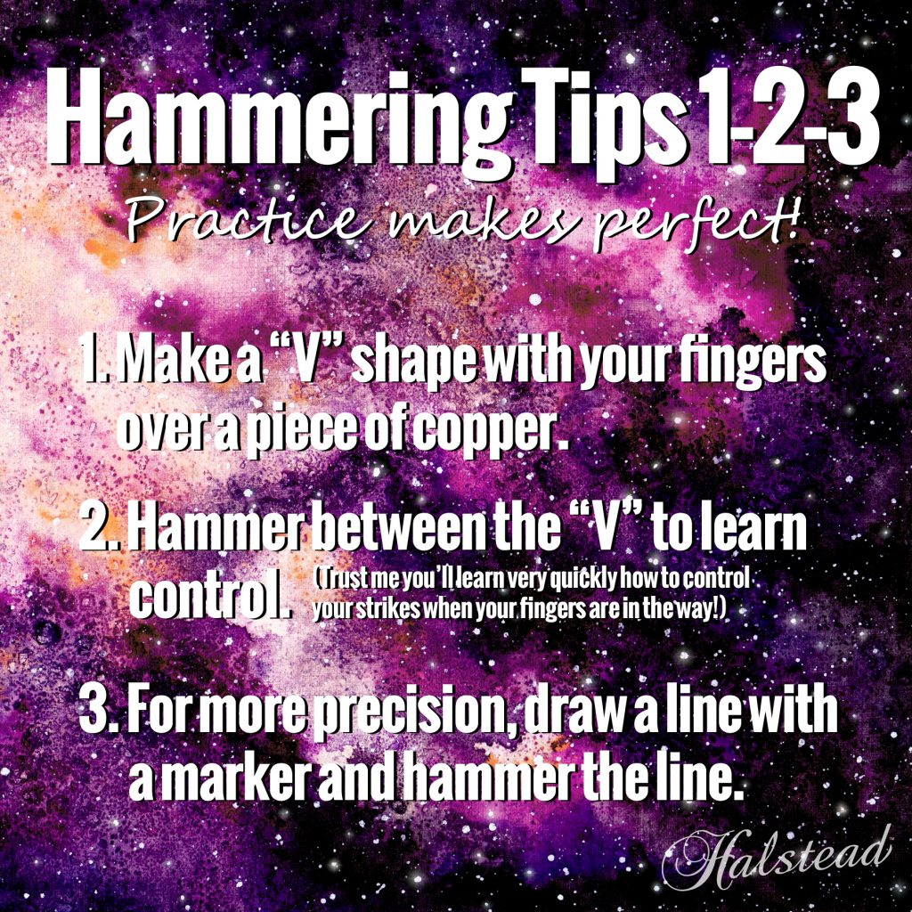 Hammering tips for metalsmithing