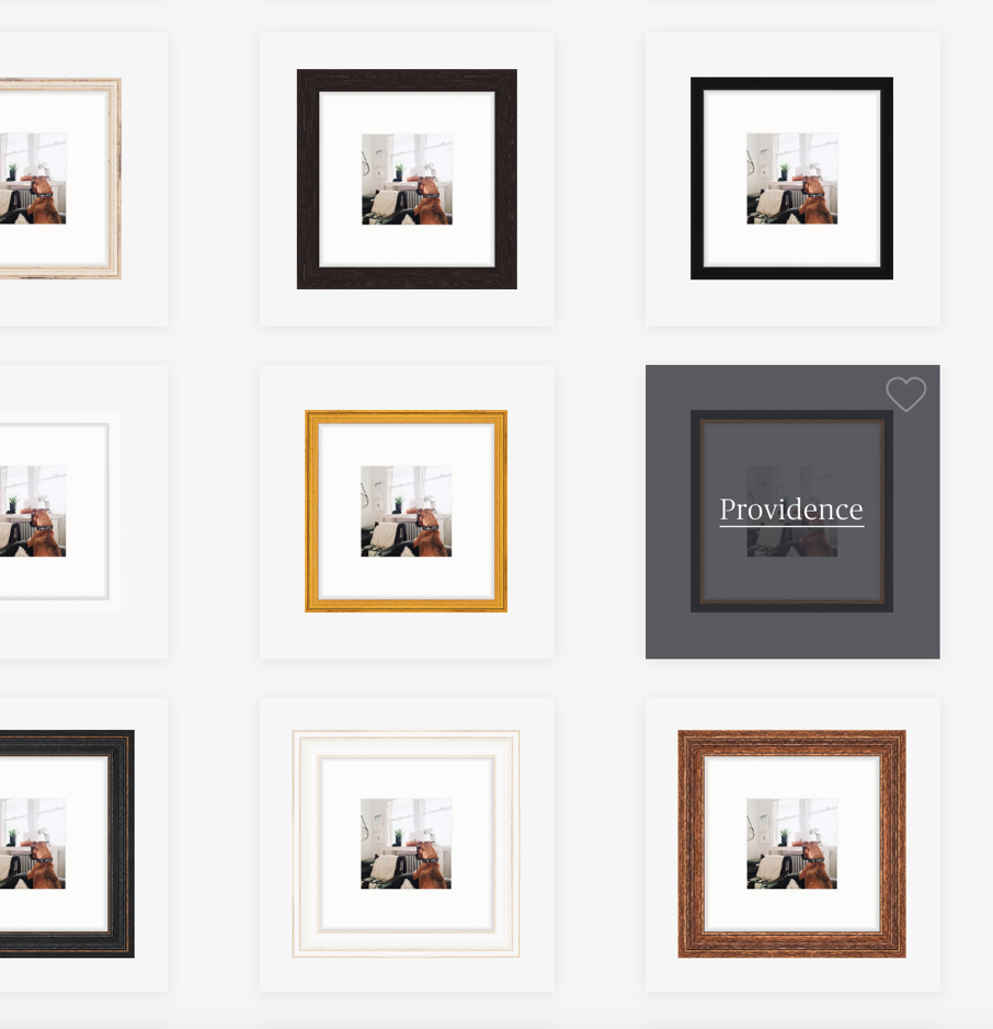 Step 1 – Pick a Frame