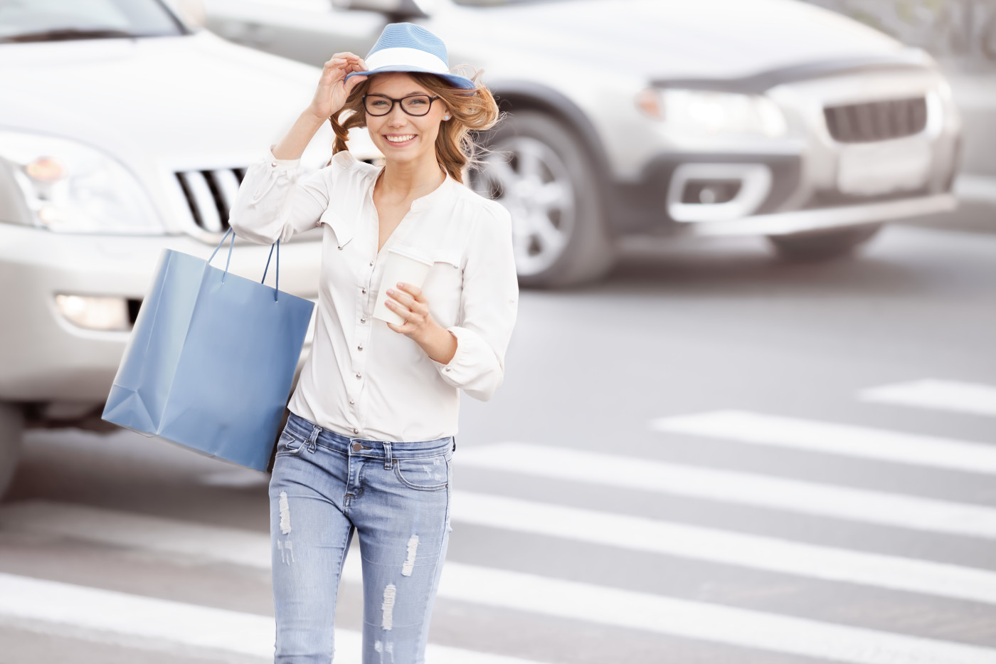 women walking with purchase save money
