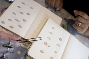 Sketches of jewelry by Tracy Matthews