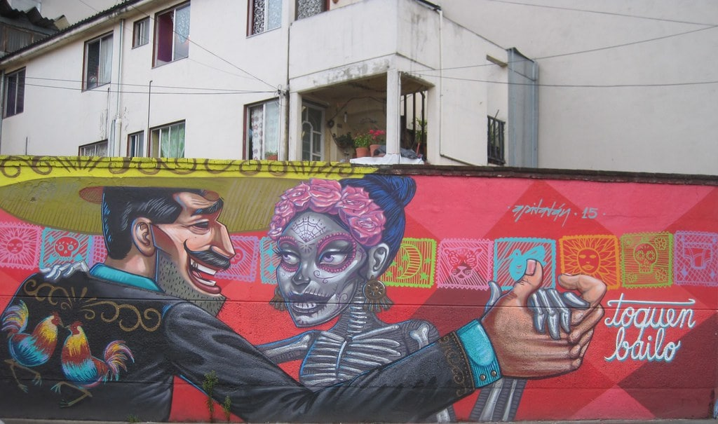 An awesome thing to do in Mexico City is check out the street art in Roma