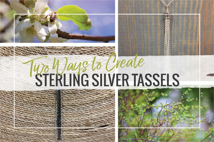 Make your own sterling silver tassels from chain and jewelry findings. Tassels make beautiful earring dangles, charms or pendants.