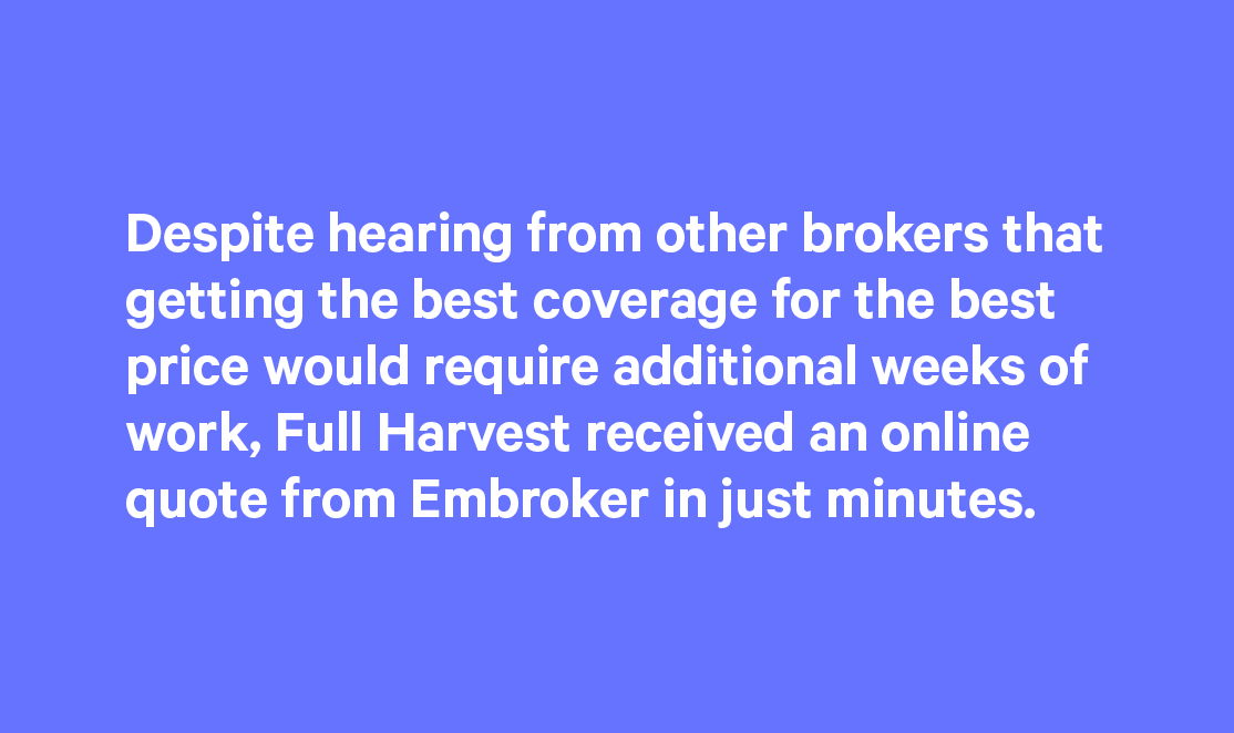 full harvest insurance quote