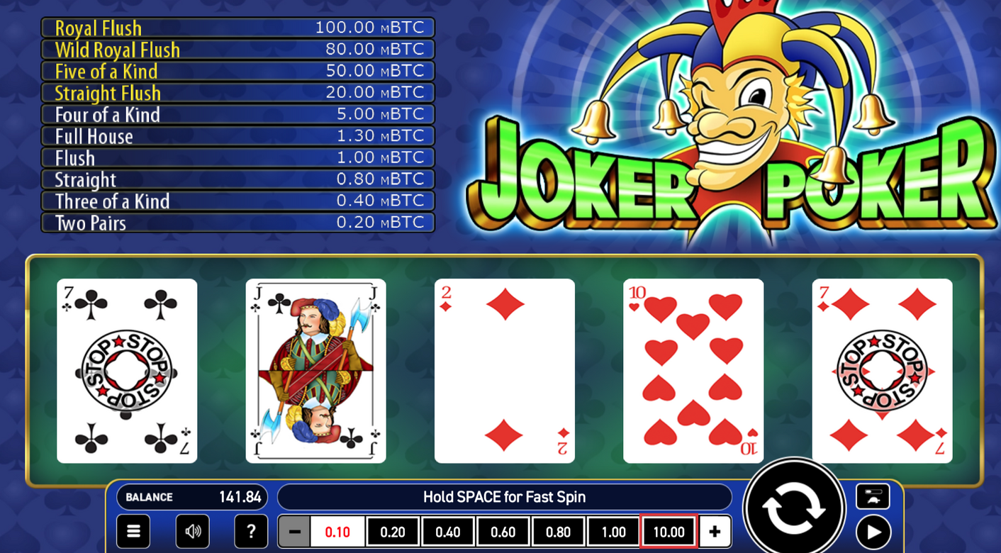 Bitcoin Joker Poker