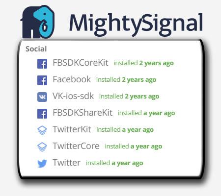 Faceapp iOS social SDKs