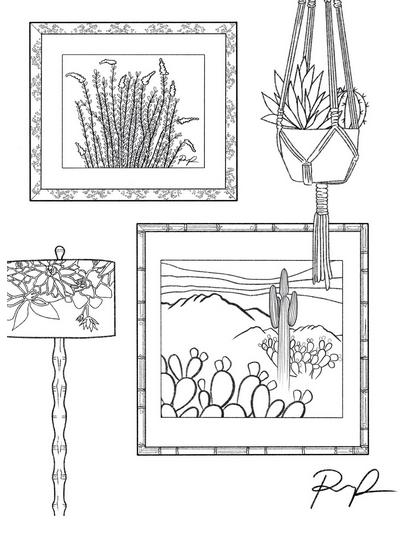 cartoon of frames