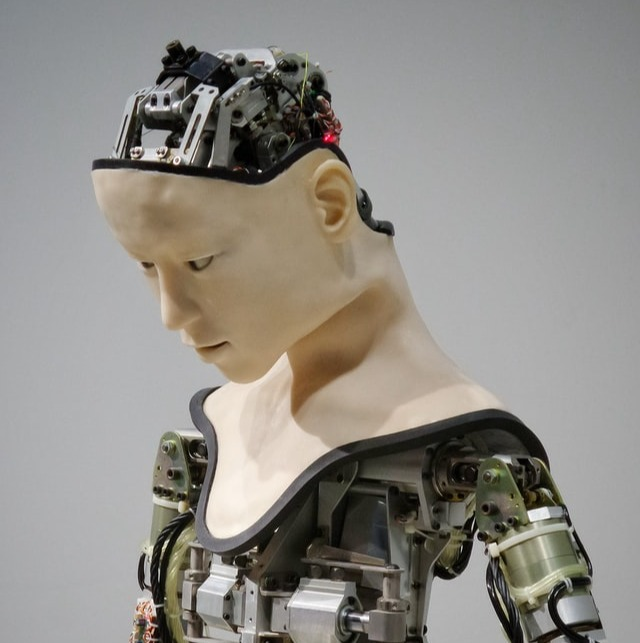 Manequin made of electronic components
